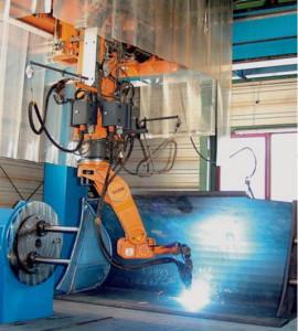 Компактный роботизированный сварочный комплекс для сварки ковшов на базе робота KUKA KR6 arc