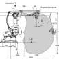 Паллетировочный робот KUKA KR 100-2 PA рабочая зона
