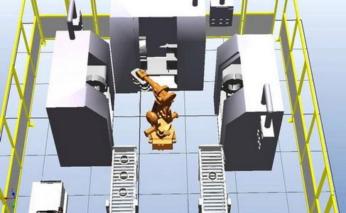 Роботизированное обслуживание станков